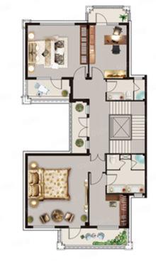 D户型431㎡, 公寓