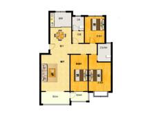 (双山)宏昌家园小区3室2厅2卫108万128m²简单装修出售